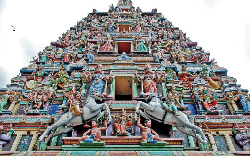 A Hindu temple in Malaysia.