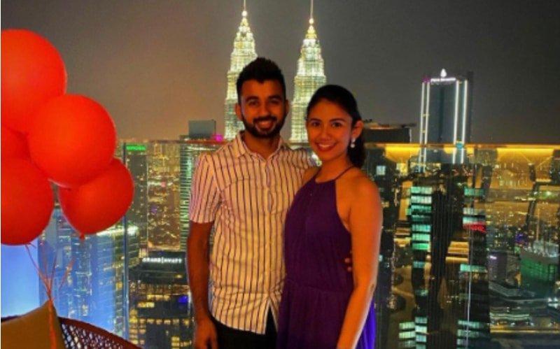 Indian Hockey captain Manpreet Singh Pawar with her Malaysian wife Illi Najwa.