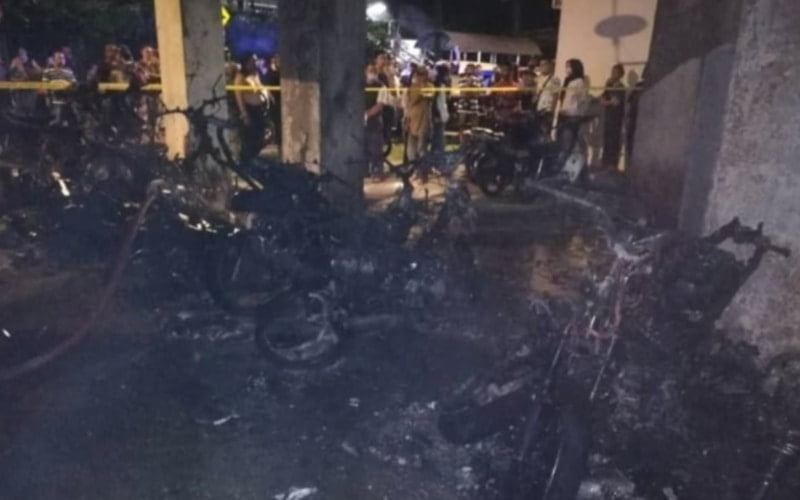 26 motorcycles razed at PPRparking lot fire