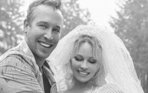 Pamela says they decided to get hitched over the holidays.